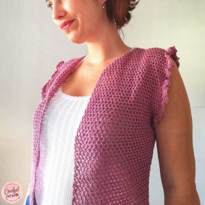 chaleco a crochet para mujer